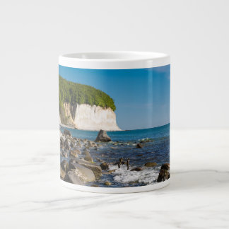White cliffs on shore of the Baltic Sea Large Coffee Mug