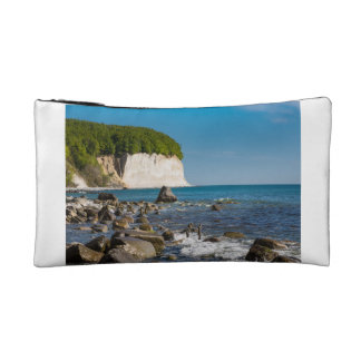 White cliffs on shore of the Baltic Sea Makeup Bag