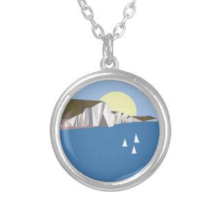 White Cliffs Summer Round Pendant Necklace