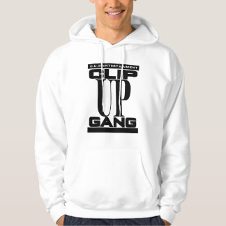 WHITE CLIP UP GANG HOODIE