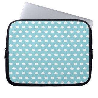 White Cloud Pattern Laptop Sleeves