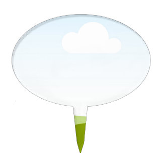 White Cloud - Single View in iTunes Cake Topper