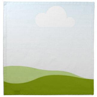 White Cloud - Single View in iTunes Cloth Napkin