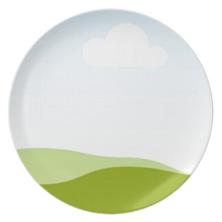White Cloud - Single View in iTunes Dinner Plate
