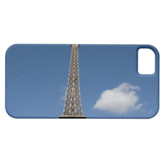 white clouds against blue sky behind the Eiffel iPhone SE/5/5s Case