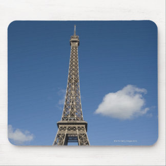 white clouds against blue sky behind the Eiffel Mouse Pad