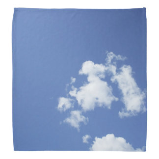 White Clouds and Blue Sky Bandana