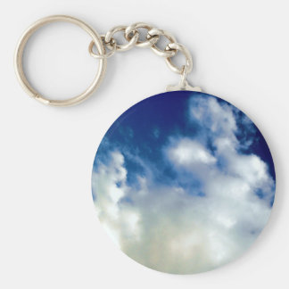 White Clouds & Blue Sky Key Chains