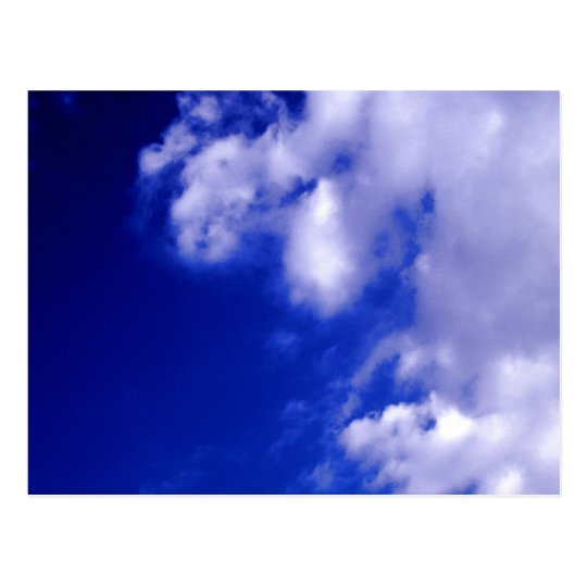 White Clouds & Blue Sky Postcard