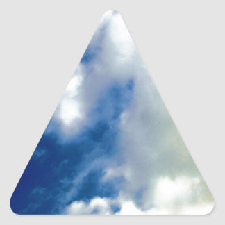 White Clouds & Blue Sky Triangle Sticker