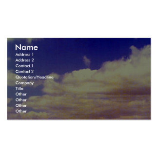 White clouds, daytime business card