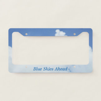 White Clouds in Blue Sky License Plate Frame