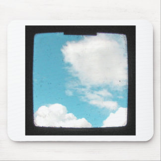White Clouds in Blue Sky Mouse Pad