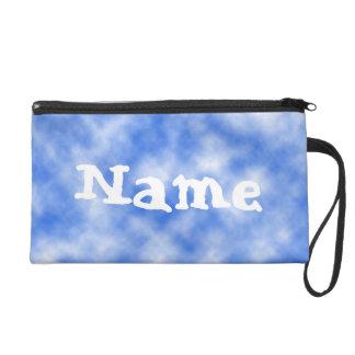 White Clouds on a Blue Sky Name Bag