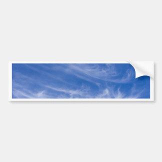 White clouds on blue sky bumper sticker
