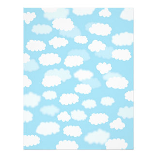 White clouds on blue sky paper print letterhead