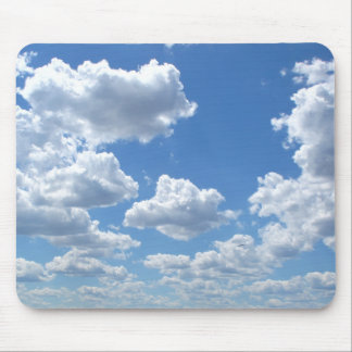 White Clouds on the Blue Sky Photo Mouse Pad
