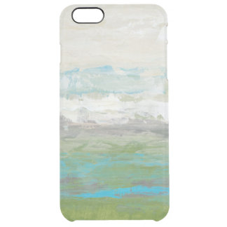 White Clouds Overlooking Beautiful Landscape Clear iPhone 6 Plus Case