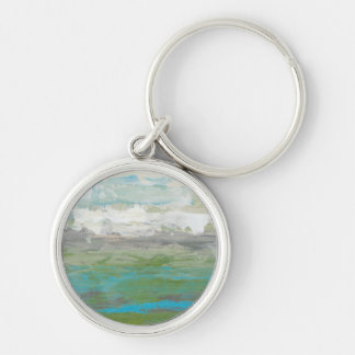 White Clouds Overlooking Beautiful Landscape Keychain