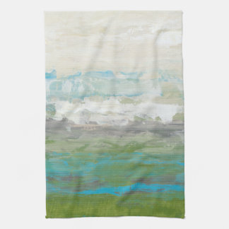 White Clouds Overlooking Beautiful Landscape Towel