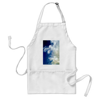 White Clouds & Sky Adult Apron
