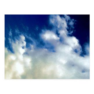 White Clouds & Sky Postcard