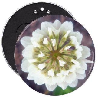 White Clover Blossom 1 Button