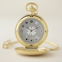 White Clover Ribbon (Bf) by K Yoncich Pocket Watch