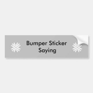White Clover Ribbon by Kenneth Yoncich Bumper Sticker