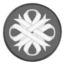 White Clover Ribbon by Kenneth Yoncich Hockey Puck