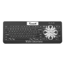 White Clover Ribbon by Kenneth Yoncich Wireless Keyboard