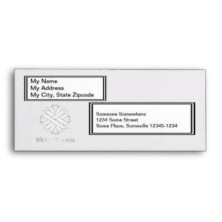 White Clover Ribbon Envelope