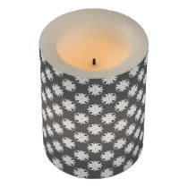 White Clover Ribbon Flameless Candle
