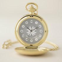 White Clover Ribbon (Rf) by K Yoncich Pocket Watch