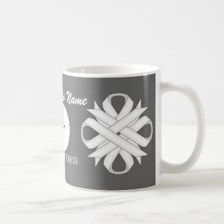 White Clover Ribbon Template by Kenneth Yoncich Coffee Mug
