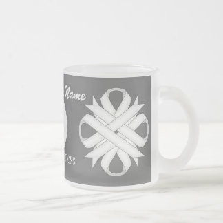 White Clover Ribbon Template by Kenneth Yoncich Frosted Glass Coffee Mug