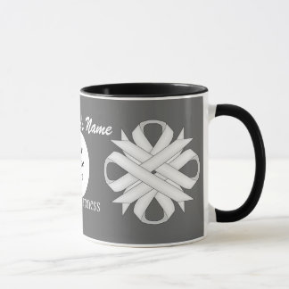 White Clover Ribbon Template by Kenneth Yoncich Mug