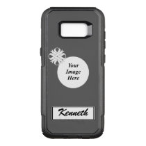 White Clover Ribbon Template by Kenneth Yoncich OtterBox Commuter Samsung Galaxy S8  Case