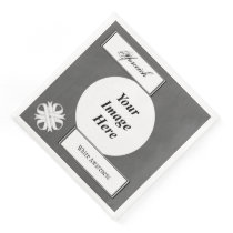 White Clover Ribbon Template by Kenneth Yoncich Paper Dinner Napkin