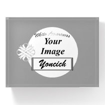 White Clover Ribbon Template by Kenneth Yoncich Paperweight