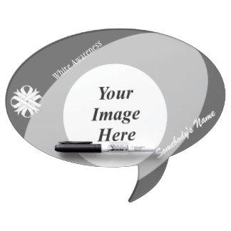 White Clover Ribbon Template Dry Erase Board