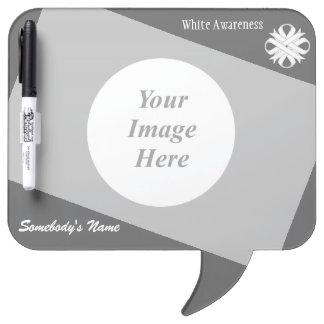 White Clover Ribbon Template Dry-Erase Board