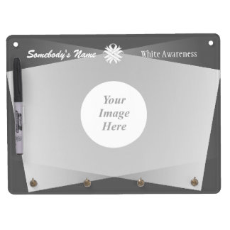 White Clover Ribbon Template Dry Erase Board With Keychain Holder