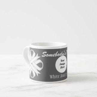White Clover Ribbon Template 6 Oz Ceramic Espresso Cup