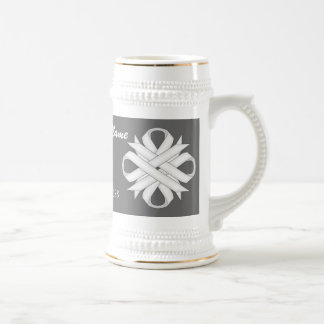 White Clover Ribbon Template Stein