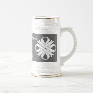 White Clover Ribbon Template Stein 18 Oz Beer Stein