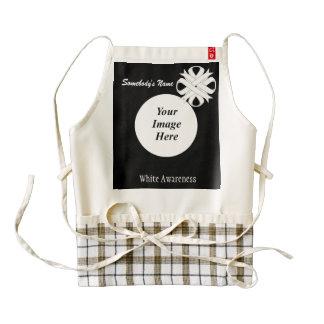 White Clover Ribbon Template Zazzle HEART Apron