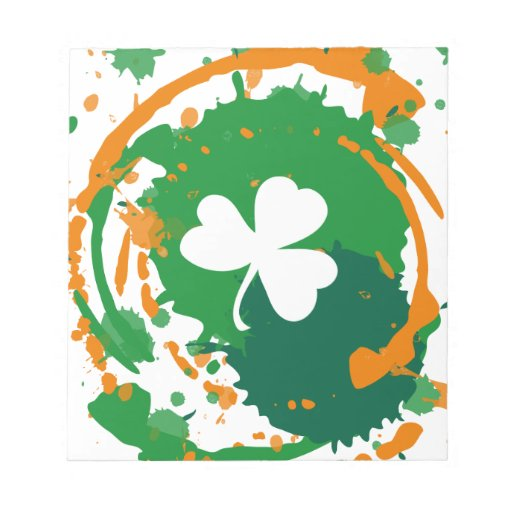 White Clover With Ink Background Note Pad