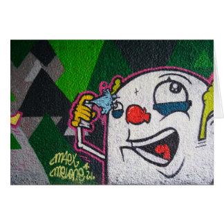 White Clown Card