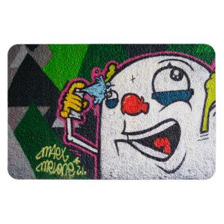 White Clown Magnet